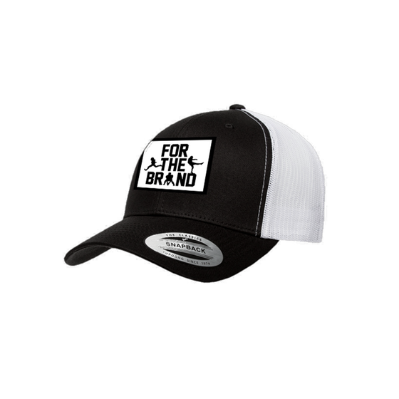 For The Brand Patch Snapback Trucker Hat - Black/White