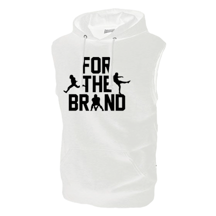For The Brand Full Chest White Sleeveless Hoodie