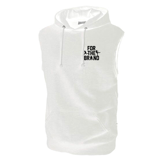 For The Brand Sleeveless Hoodie - White