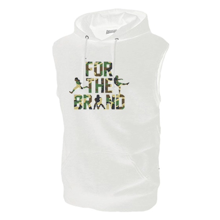 For The Brand Camo White Sleeveless Hoodie