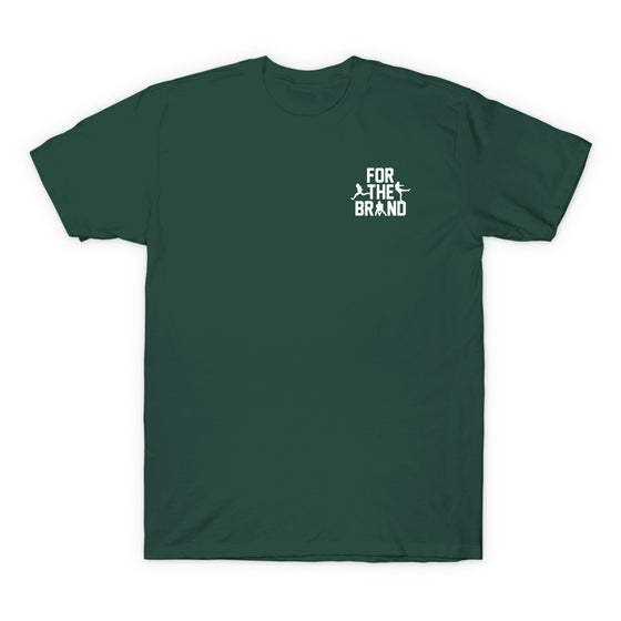 For The Brand Left Chest T-shirt - Forest Green