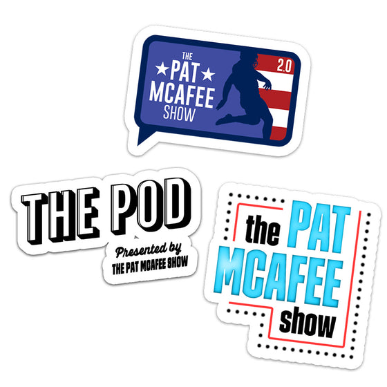 3 Piece Pat McAfee Show Sticker Pack