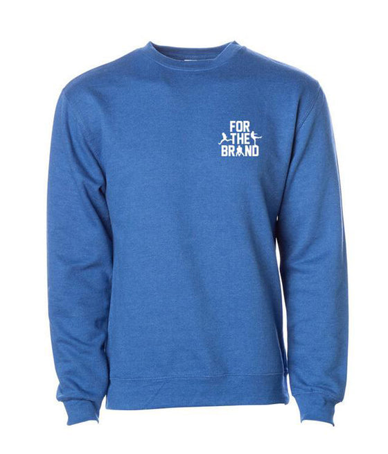 For The Brand Left Chest Crewneck Sweatshirt - Royal Heather