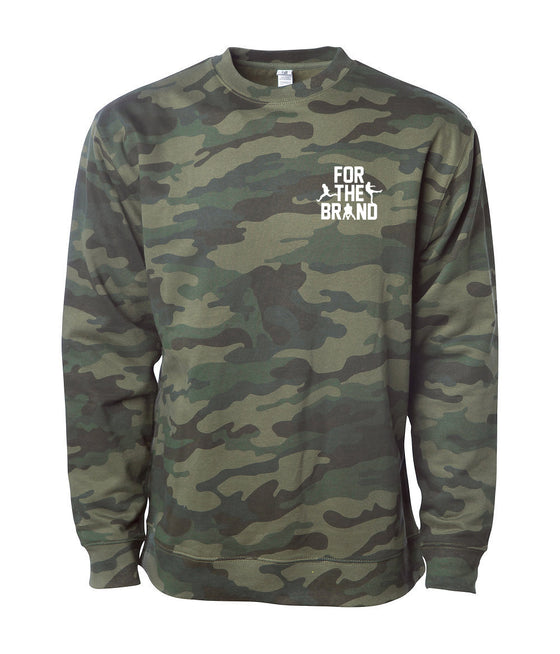 For The Brand Left Chest Crewneck Sweatshirt - Camo