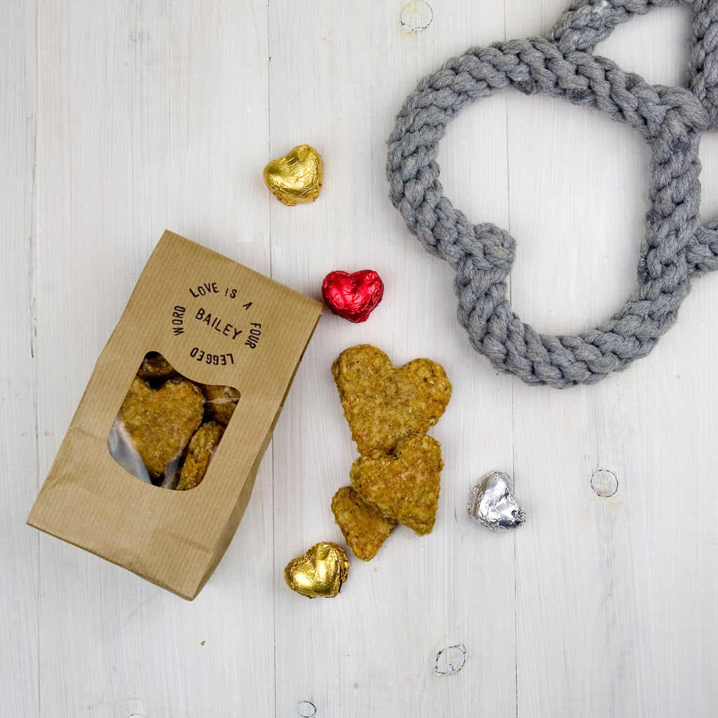 'Love is ...' Dog Treat Gift With Toy