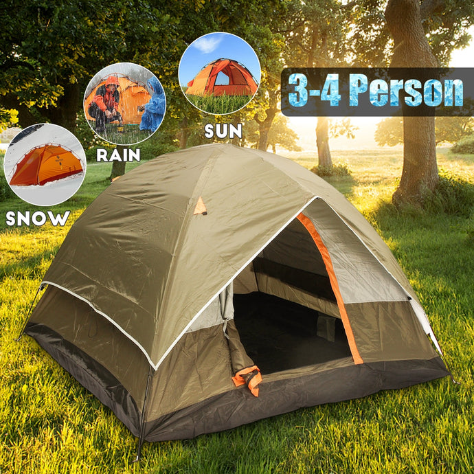 3-4 Person Windbreak Camping Tent