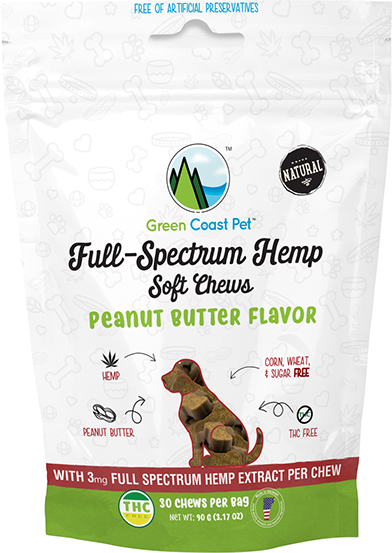 Dog CBD Treats Peanut Butter Flavor
