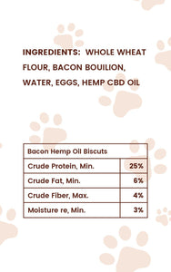 Pharma Health CBD Dog Treats Bacon Flavor Ingredients