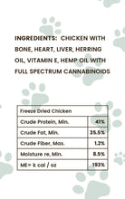 Load image into Gallery viewer, Pharma Health Chicken CBD Treats for Dogs Ingredients