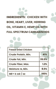 Pharma Health Chicken CBD Treats for Dogs Ingredients