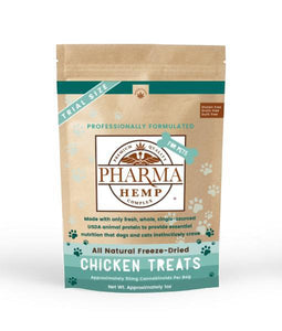 Pharma Health Chicken CBD Treats for Dogs Back of Product