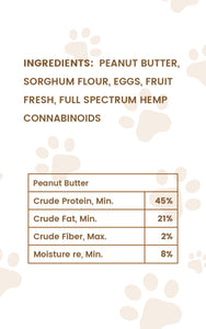 Hemp Health Peanut Butter Flavored CBD Oil Treats Product Nutritional Facts 2