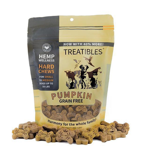 TREATIBLES - FULL SIZE – SMALL PUMPKIN HARD CHEWS (2 OPTIONS AVAILABLE) – CANINE