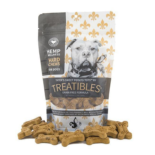 Treatibles Large Sweet Potato CBD Oil for Dogs Treats Product Picture