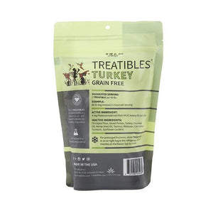 Treatibles Large Turkey CBD Oil for Dogs Treats Product Picture Back
