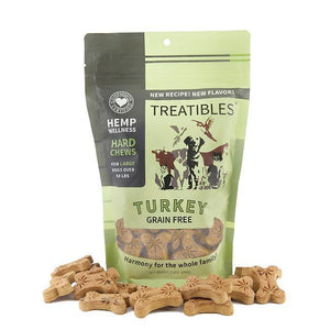 Treatibles Large Turkey CBD Oil for Dogs Treats Product Front Picture