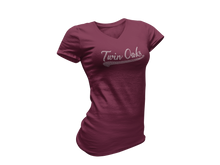 Load image into Gallery viewer, Twin Oaks Women's Baseball Tee with Bling
