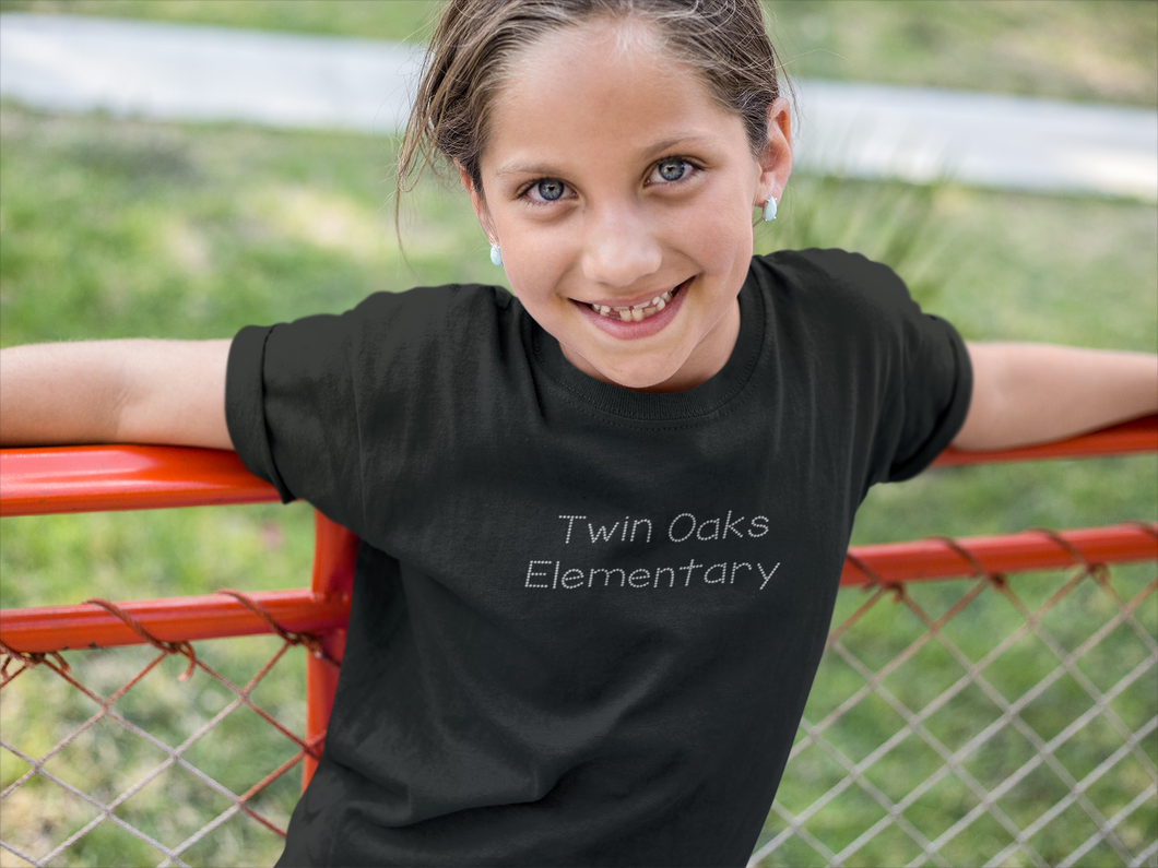 Twin Oaks Elementary Youth Tee with Bling