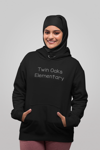 Twin Oaks Elementary Adult Lightweight Hoodie with Bling
