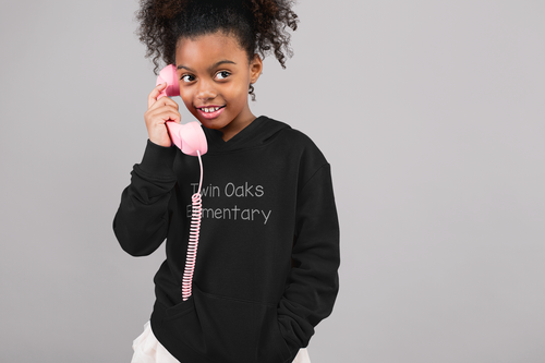 Twin Oaks Elementary Youth Lightweight Hoodie with Bling