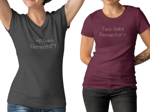Twin Oaks Elementary Women's Tee with Bling