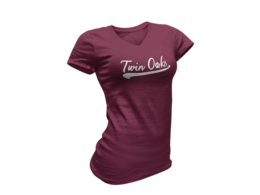 Twin Oaks Women's Baseball Tee