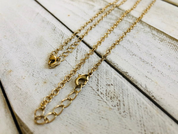 Gold plated chain 18, 24 and 36in