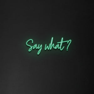 'Say what' Neon Sign