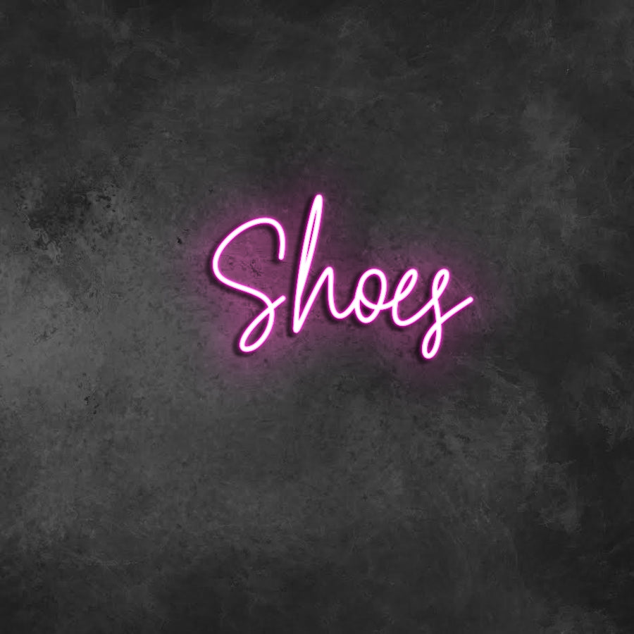 'Shoes' Neon Sign