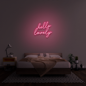 'Hello lovely' Neon Sign