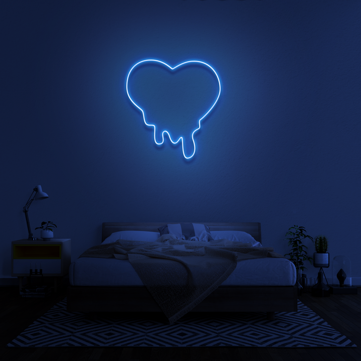 'Melting heart' Neon Sign