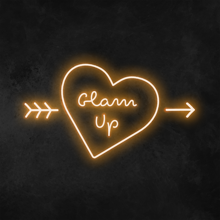 'Glam Up' Heart Neon Sign