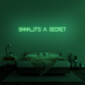 'Shhh...it's a secret' Neon Sign