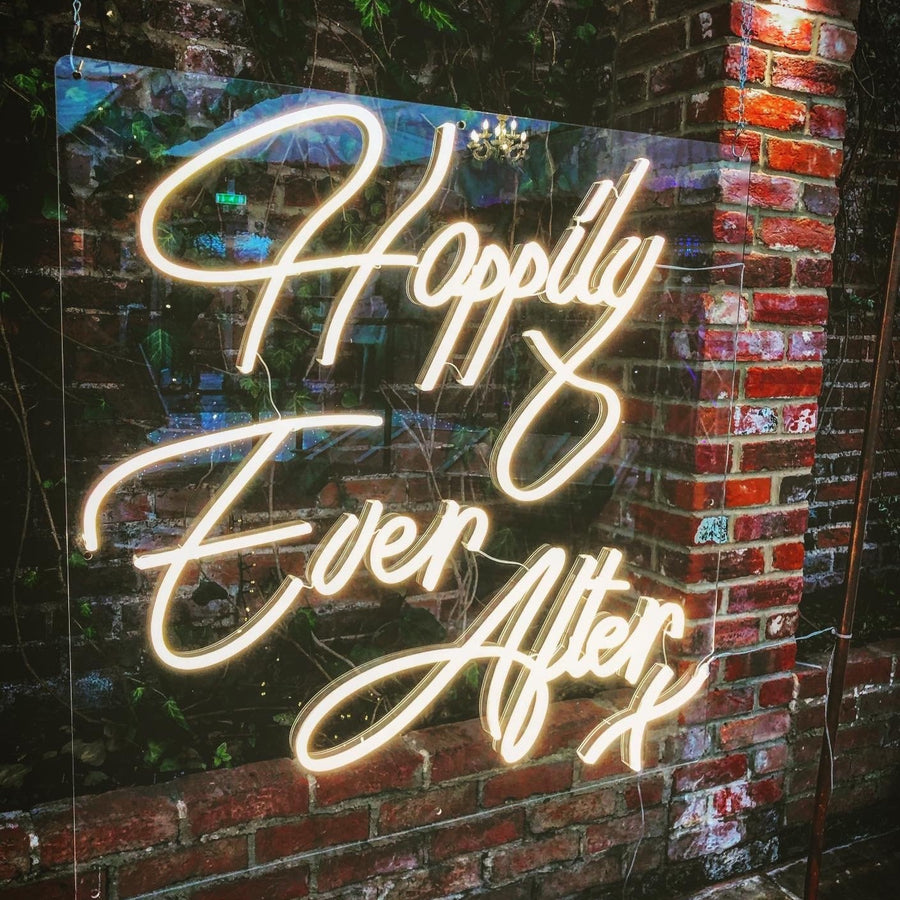 Happily Ever After Neon Sign (Warm White)