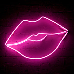 Kiss Neon Sign (Pink)