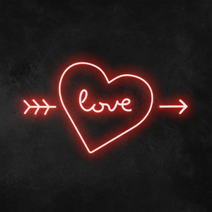 'Love' Heart Neon Sign