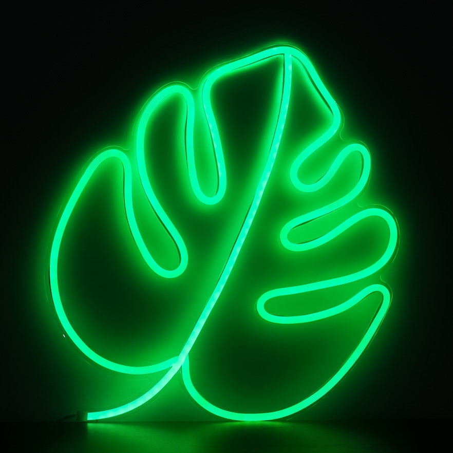 Monstera Leaf Neon Sign