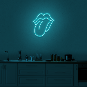 'Lips and Tongue' Neon Sign