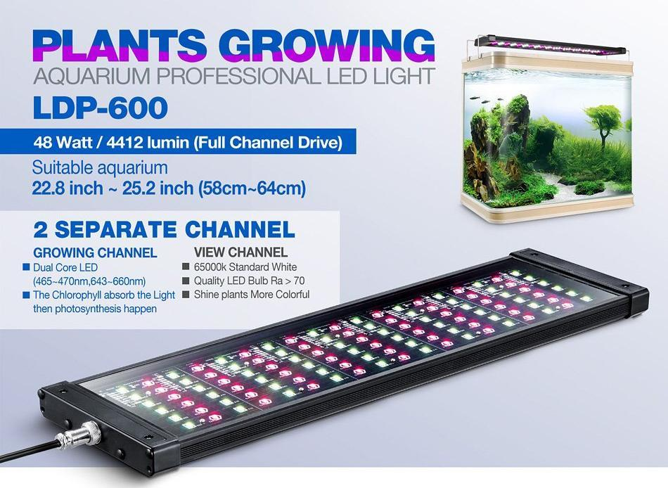 Rampe LED eau douce LDP-600 - Bao Aquarium