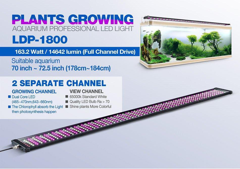 Rampe LED eau douce LDP-1800 - Bao Aquarium