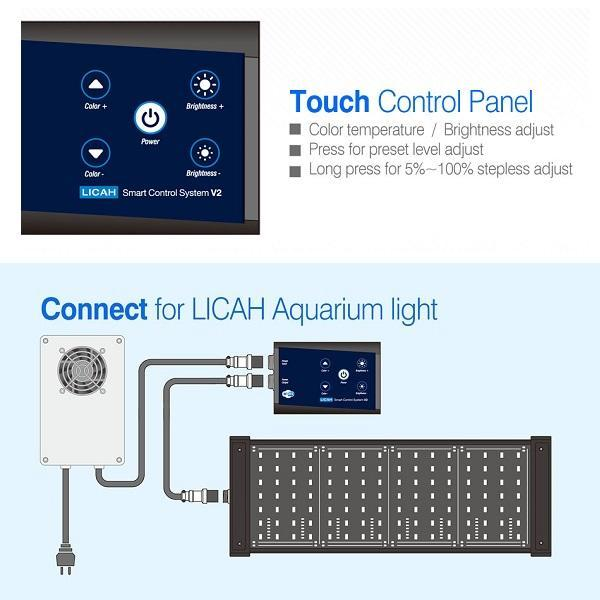 ecran-tactile-du-controleur-intelligent-smart-control-system-v2-wifi-des-rampes-led-licah