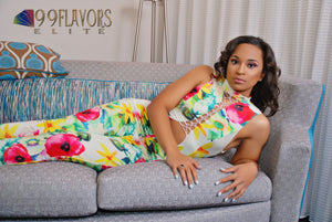 Multi-color Print Regular Jumpsuits Photoshoot with Eliza Gold
