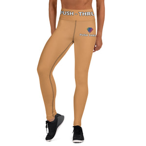HAZLENUT COFFEE LEGGING WITH POCKETS