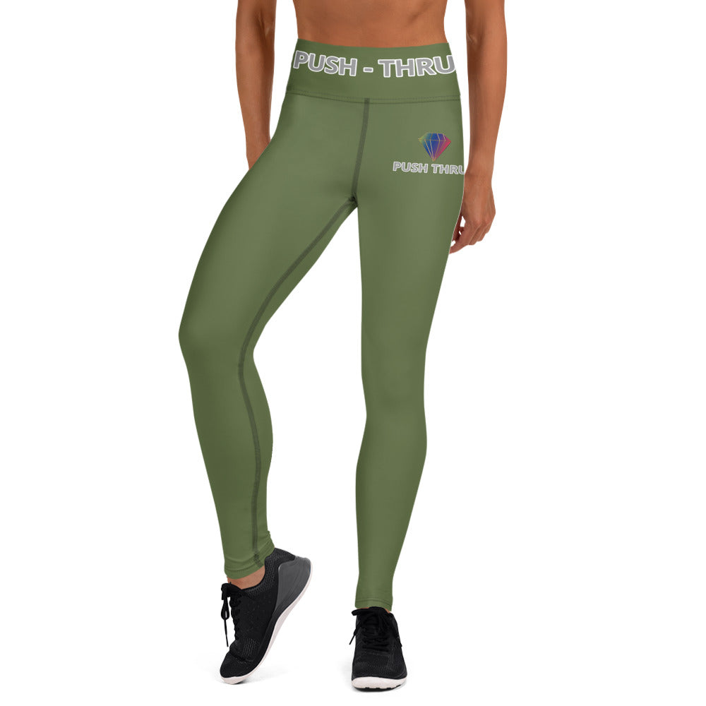 DARK OLIVE GREEN LEGGINGS WITH POCKETS