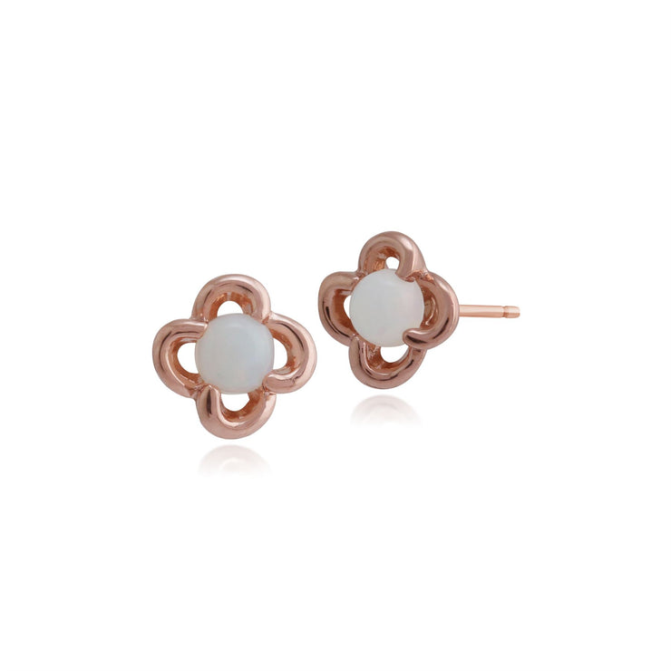 9 karat Rose Gold Opal Ohrstecker Ohrringe
