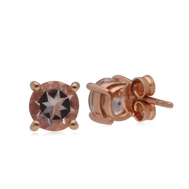 Kosmos Morganit Ohrstecker in 9ct Rose Gold