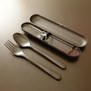 Black Cutlery Set