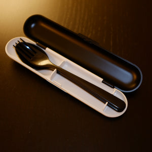 Black & White Cutlery Set