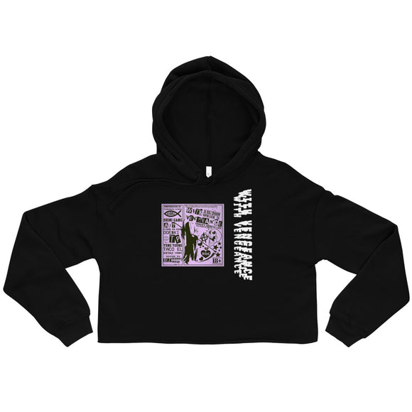 With Vengeance Crop Hoodie