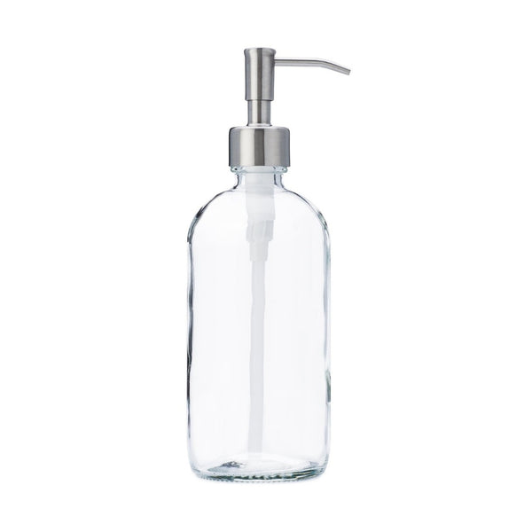 Clear Glass Reusable Soap Dispenser 16oz